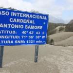 De grens tussen Chili en Argentini? ligt hier op 1321 meter