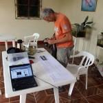 Ons kantoor in Hospedaje Las Delfines i.v.m. de herinvoer van Inés in Australië