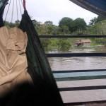 Uitzicht vanuit Frieds hangmat bij het wakker worden