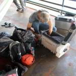 De bagage wordt weer eens ingepakt