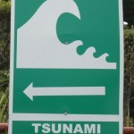 Tsunami evacuatie route Chile