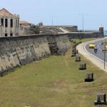 De stadsmuren van Cartagena