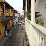 Vanaf ons balkon in Hotel Santa Cruz