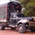 Een blits Ford vrachtwagentje