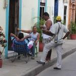 Het leven speelt zich af op straat in de wijk Getsemani