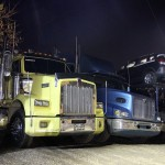 Trucks by night