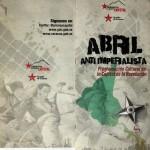 Folder voor een anti imperialistisch festival deze maand